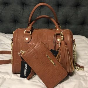 Steve Madden BLOGO Satchel/crossbody Bag W/wallet